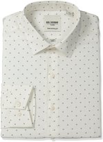 Ben Sherman Men's Skinny Fit Triple Dot Print Spread Collar Dress Shirt