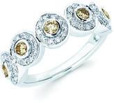 Ice 3/5 CT TW Champagne Diamond 14K White Gold Multi-Halo Ring by Boston Bay Diamonds