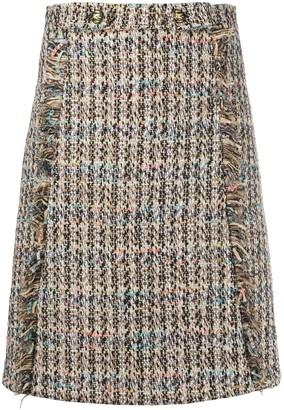 Etro Tweed Straight Skirt
