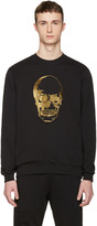 Markus Lupfer Black and Gold Skull Pullover
