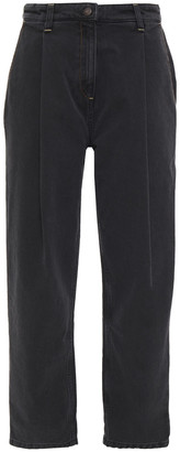 Magda Butrym Totenes Pleated High-rise Tapered Jeans