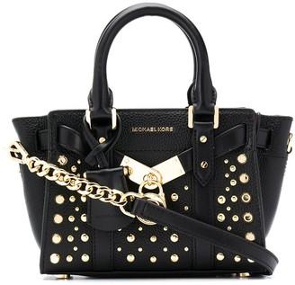MICHAEL Michael Kors Studded Leather Tote Bag