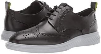 Ecco ST.1 Hybrid Lite Brogue (Black) Men's Shoes