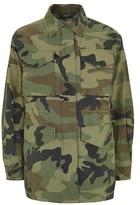 Topshop Faux Fur Lined Camouflage Shacket