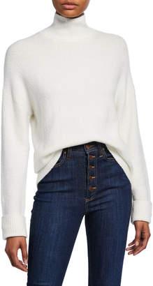 Alice + Olivia Felix Oversized Roll-Cuff Turtleneck Sweater