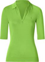 Black Lime Open Placket Polo Shirt