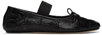 Marni Black Croc Ballerina Loafers