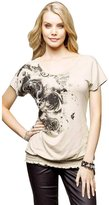 Changeshopping Women Ladies Floral Summer Hot Casual Short Sleeve Blouse T Shirt (S, )