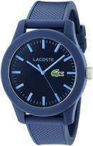 Lacoste Men's 2010765-12.12 Resin Watch with Textured Silicone Band