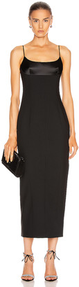 Alexander Wang Tuxedo Cup Evening Dress in Black | FWRD
