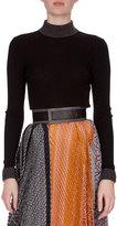 Loewe Balls & Chain Knit Sweater, Black/Gray