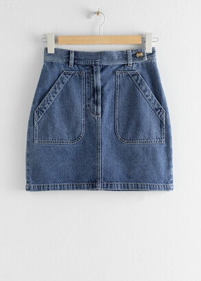 And other stories Patch Pocket Denim Mini Skirt