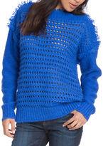 Plenty by Tracy Reese Open-Knit Eyelash Yarn Sweater