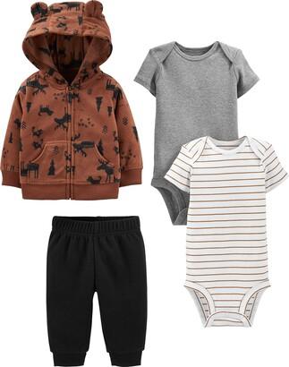 Simple Joys by Carter's 4-piece Fleece Jacket Pant and Bodysuit Set Layette
