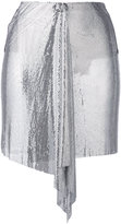 Versus draped mini skirt - women - Cotton/Polyamide/Polyester/metal - 38