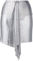 Versus draped mini skirt - women - metal/Polyamide/Spandex/Elastane/Acetate - 38