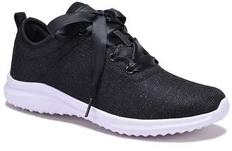 Dream Seek Women's Sneakers BLACK - Black Tie-Accent Sneaker - Women