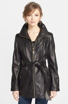 Ellen Tracy Petite Women's Leather Trench Jacket