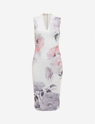Ted Baker Bouquet floral-print crepe midi dress
