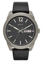 DKNY Men's 'Bryant Park' Quartz Titanium and Black Leather Casual Watch (Model: NY2446)