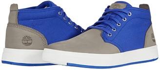 Timberland Davis Square Leather Fabric Chukka (Wheat Nubuck/Green) Men's Shoes