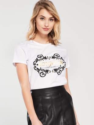 Very Bonjour EmbellishedT-shirt -White