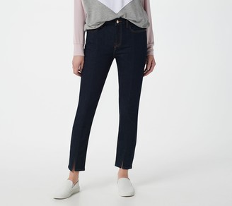 JEN7 by 7 For All Mankind Ankle Skinny Jeans with Front Slit