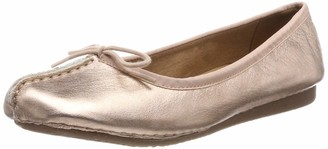 Clarks Womens Freckle Ice Closed Mocassins 3.5 UK - White (White Leather)