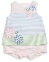 Florence Eiseman Baby's Striped Seersucker Top & Bloomers Set