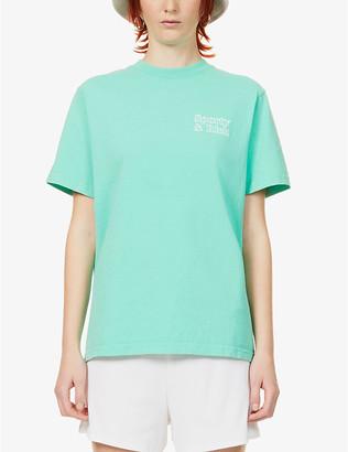 Sporty & Rich Logo-print cotton-jersey T-shirt