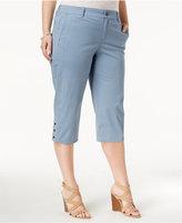 Style&Co. Style & Co Plus Size Snap-Hem Capri Pants, Only at Macy's