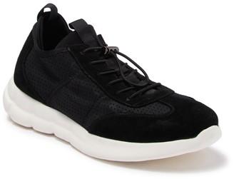 Karl Lagerfeld Paris Suede Neoprene Lace Up Sneaker