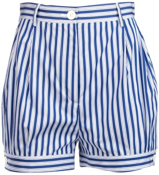 Prada Striped Wide-Leg Shorts