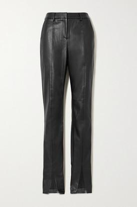 De La Vali The Blues Vegan Leather Straight-leg Pants - Black