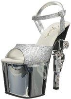 Pleaser USA Women's Revolver-709G Platform Sandal