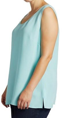 Lafayette 148 New York, Plus Size Finnley Scoopneck Sleeveless Silk Top