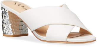 Neiman Marcus Jeweled Leather Mules