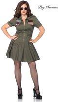 Leg Avenue Women's Plus-Size Licensed Top Gun Flight Dress