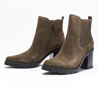 Franco Sarto Suede or Patent Ankle Boots - Trent