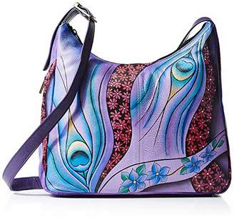 Anuschka Anna by Genuine Leather Hobo Shoulder Bag | Hand Painted Original Artwork |