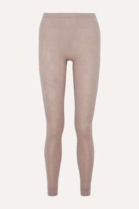 Hanro Slub Silk And Cashmere-blend Leggings - Ecru
