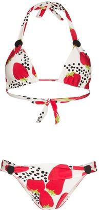 Adriana Degreas Strawberry-Print Halterneck Bikini
