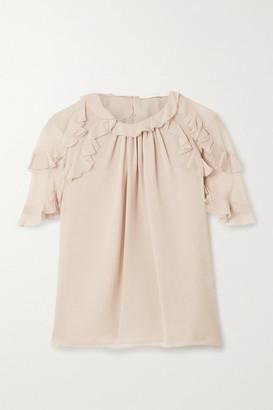 Jason Wu Collection Ruffled Silk-chiffon Top - Blush
