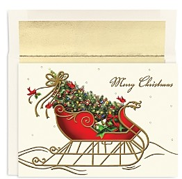 MASTERPIECE Studios Holiday Sleigh Holiday Cards, Box of 16