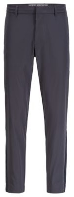 HUGO BOSS Tapered Fit Pants In Water Repellent Stretch Fabric - Dark Blue