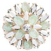 Leith Women's Crystal Flower Brooch