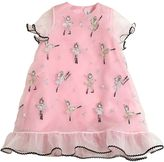 Simonetta Embroidered Organza Party Dress