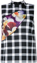 Christopher Kane checked top - women - Wool - 44