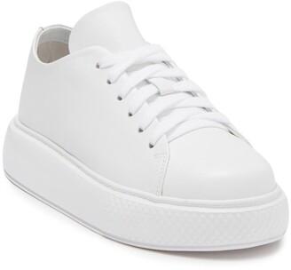 Jeffrey Campbell Parry Leather Platform Sneaker