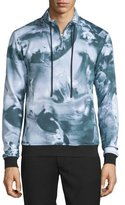 Opening Ceremony Motion College Zip-Front Pullover, Black/Multi
